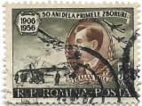 50 de ani de la primul zbor al lui Traian Vuia, 1956 - obliterata, Aviatie, Stampilat