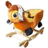 Balansoar pentru bebelusi, Caprioara, lemn + plus, cu rotile, China