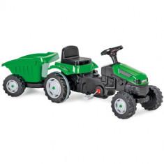 Tractor cu Pedale si Remorca ACTIVE Verde
