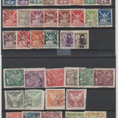Cehoslovacia 1920-1923 - Lot timbre stampilate