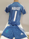 Echipamente portar  pentru copii Real Madrid Navas set fotbal model 2019