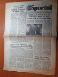 Sportul 7 august 1981- vizita lui ceausescu in jud. tulcea