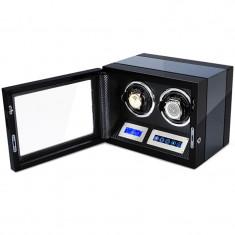 Cutie pentru intors ceasuri automatice iUni, Luxury Watch Winder 2 Carbon