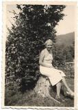 3 fotografii tanara la Cosciuia Bucovina Cernauti 1938 poza veche