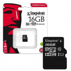 Card memorie kingston micro sdhc 16gb clasa 4, blister