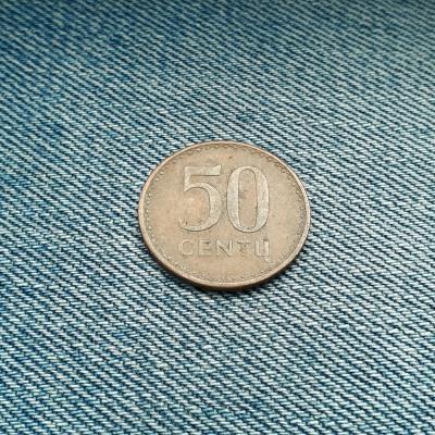 50 centu 1991 Lituania foto