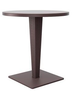 Masa pentru bar,terasa RIVA rotunda blat verzalit culoare cafea Raki