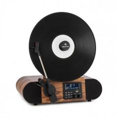 Auna Verticalo SE DAB, gramofon retro, DAB+, tuner FM, USB, BT, AUX, lemn