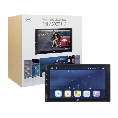 Resigilat : Multimedia player auto PNI A8020 HD cu GPS si Android Bluetooth Wifi m foto
