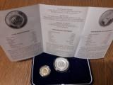 50 BANI 2020 & 10 LEI 2020 PROOF - ORGANIZATIA INTERNATIONALA A FRANCOFONIEI, Argint