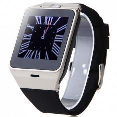 Ceas Smartwatch cu telefon iUni U15 A+, Camera, BT, 1.5 Inch, Carcasa metalica, Argintiu