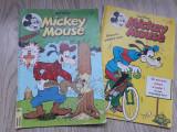 Lot 2 reviste  Mickey Mouse, editura Egmont, nr 11/1994 si 7/1995