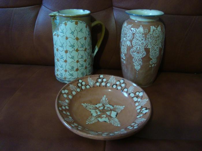 Ceramica  lut  Tompa  TURDA  canceu  vas  farfurie