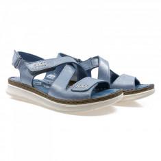 Sandale dama din piele naturala Caspian Cas-2015-Kot-Mavi