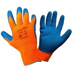 Manusi latex cu acril, protectie termica, confort ridicat, mansete elastice, marime 9/L, Portocaliu