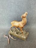 Statueta veche din bronz Cerb.