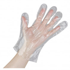 Manusi plastic de unica folosinta marime universala - 100 buc MCUFP
