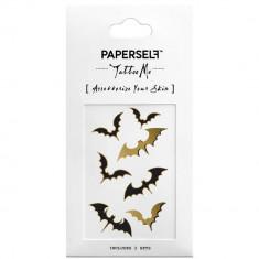 Tatuaj temporar Halloween Bat rezistent la apa Unisex