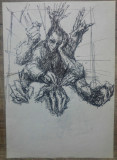 Creatorul// desen in tus de Marcel Chirnoaga