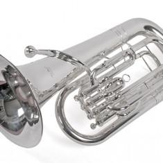 Eufoniu profesional Bb 4 pistoane Karl Glaser Bb Baritonhorn argintiu