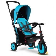 Tricicleta Pliabila 6 in 1 cu Certificare de Carucior si Tehnologie Touch Steering STR3 Albastru, Smart Trike