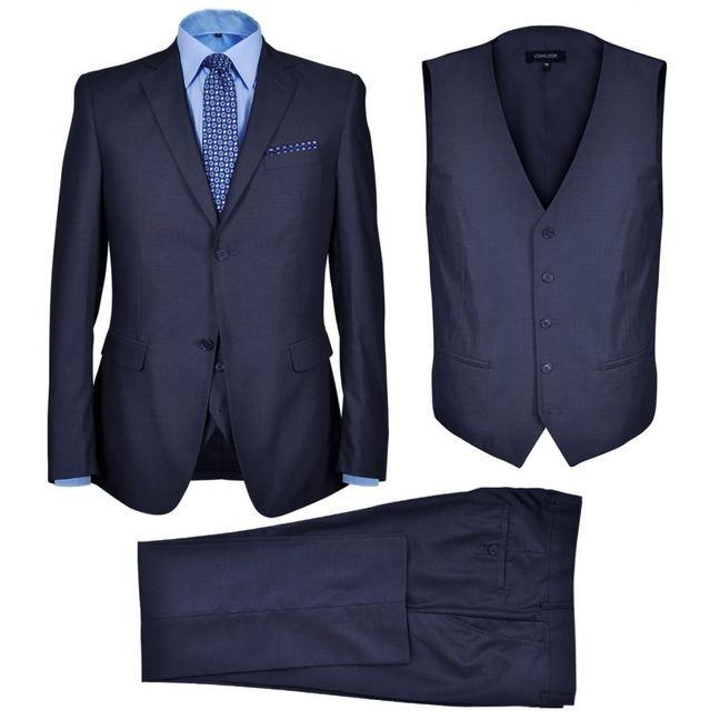 Costum business bărbați, 3 piese, bleumarin, mărime 50