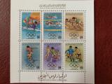Libia - Timbre sport, jocurile olimpice 1984, nestampilate MNH, Nestampilat