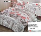 Lenjerie de pat pentru  2 persoane ,, Simfonia'', 6 piese , finet gros 100%, 240x250 cm, Set complet, Ralex