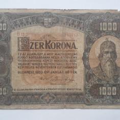 1000 Korona 1920 Ungaria bancnota coroane