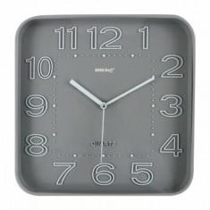 Ceas de perete, KingHoff, mecanism silentios, KH-1019-SV, Gri