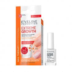 Tratament pentru cresterea unghiilor, Eveline Cosmetics, Extreme Growth, Nail Therapy Professional, 12 ml