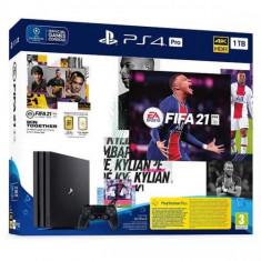 Consola SONY PlayStation 4 Pro (PS4 Pro) 1TB, Jet Black + joc FIFA 21
