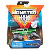 Masinuta Monster Jam, Scara 1:64, Avenger cu figurina, Verde