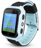 Ceas GPS Copii iUni Kid530, Touchscreen, Telefon incorporat, BT, Camera 1.3MP, Lanterna, Buton SOS, Albastru