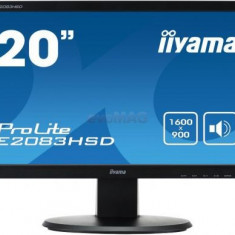 Monitor TN iiyama 19.5inch ProLite E2083HSD-B1, DVI-D, VGA, 5ms, Boxe (Negru)