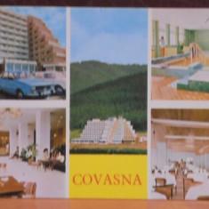 R.S.R. - COVASNA - 5 VEDERI DIN STATIUNE - CIRCULATA, TIMBRATA.
