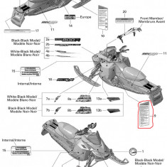 Abtibild avertizare/securitate Ski Doo nr.9 Cod Produs: MX_NEW 516003788SK