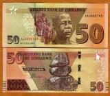 !!! ZIMBABWE - 50 DOLARI 2020 - P NEW - UNC / PREFIX AA