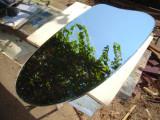 Oglinda decorativa hol cu suport pentru agatat pe perete cu dimensiunea 67x45 cm