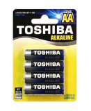 Baterie Toshiba Alkaline AA R6 1,5V alcalina set 4 buc.