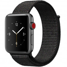 Curea pentru Apple Watch 40mm iUni Woven Strap, Nylon Sport, Dark Black