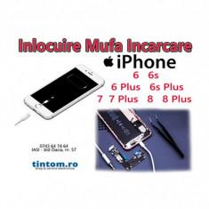 Reparatie Mufa Incarcare iPhone NU INCARCA Inlocuire Conector Alimentare