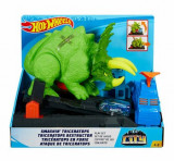 Hot Wheels City - Triceratops, dinozaurul furios