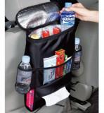 Organizator scaun auto cu loc termoizolant si buzunare