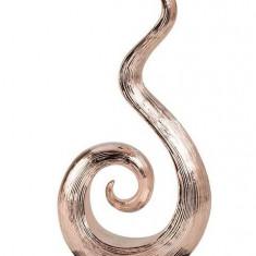 Decoratiune de Interior Elegant model Spirala alungita Abstract suport lemn NAGO H 35 cm Argintiu Negru