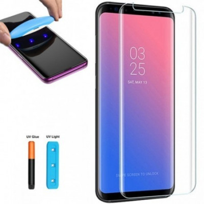 Folie Sticla Full Glue UV Samsung Galaxy S8 ,TRANSPARENT foto