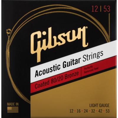 Corzi acustica Gibson SAG-CBRW12 12-53 Coated 80/20 Bronze foto