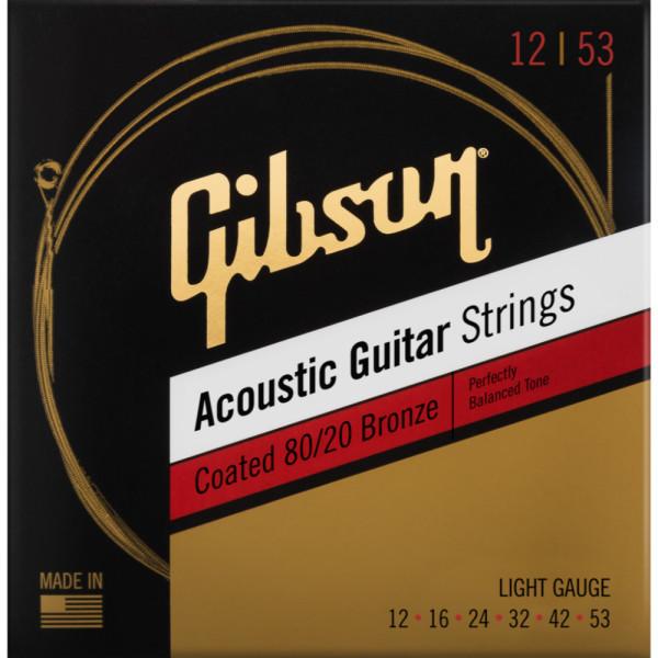 Corzi acustica Gibson SAG-CBRW12 12-53 Coated 80/20 Bronze