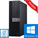 Sistem Desktop PC DELL OptiPlex 5060 SFF, Intel Core i5-8500 pana la 4.1GHz, 8GB, SSD 256GB, Intel UHD Graphics 630, Windows 10 Pro
