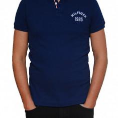 Tricou Tommy Hilfiger Estate Blue Slim Fit, Slim Fit, culoare Albastru, marime S